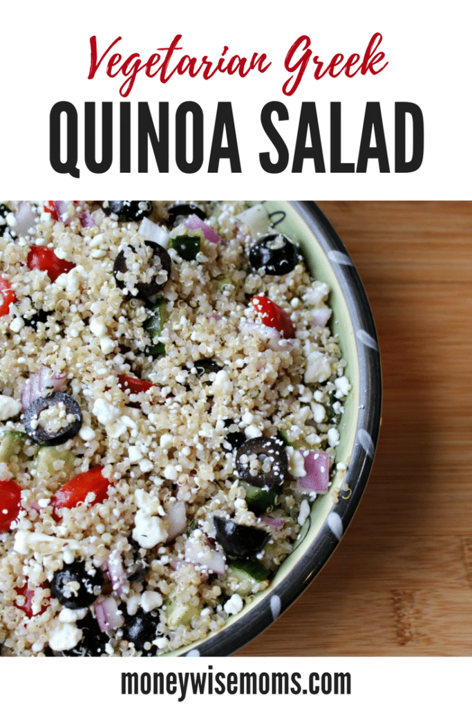 Vegetarian Greek Quinoa Salad - easy family dinner ready in less than 30 minutes