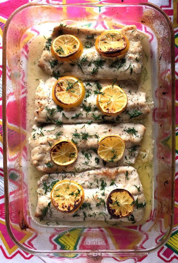 Baked Lemon Garlic Butter Fish from Melanie Cooks | Tilapia Recipes for Kids