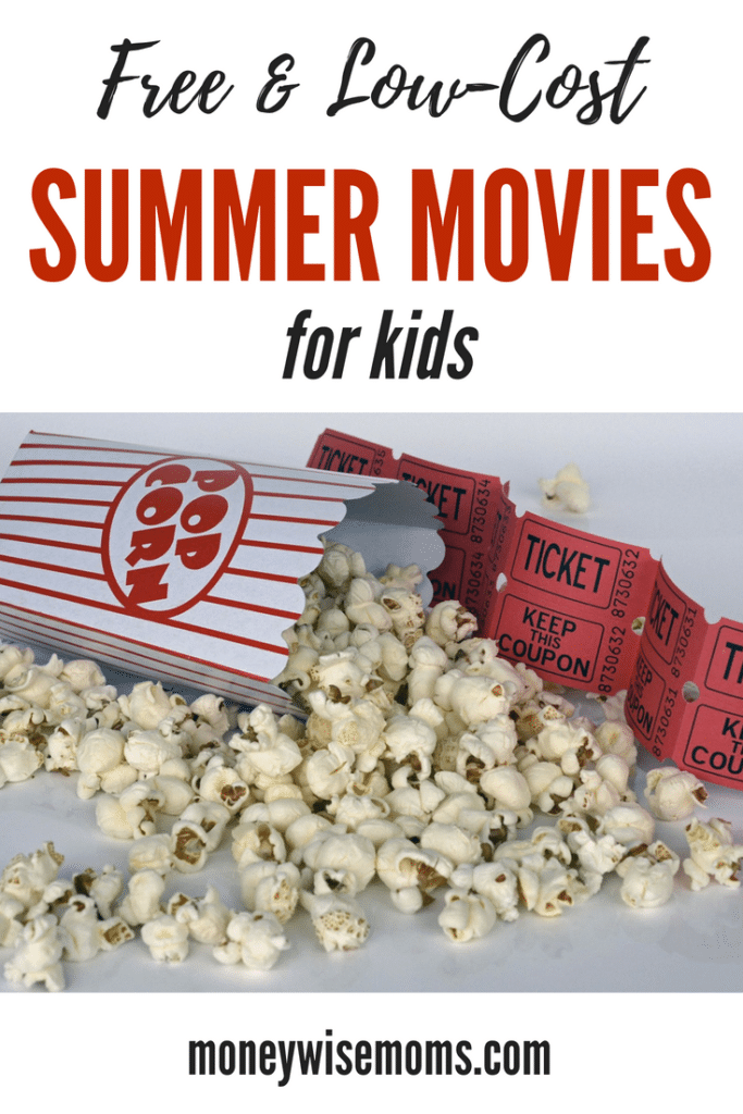 Huge list of low-cost and FREE summer movies for kids - updated for Summer 2018
