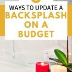 How to update a backsplash on a budget | frugal home improvement DIY