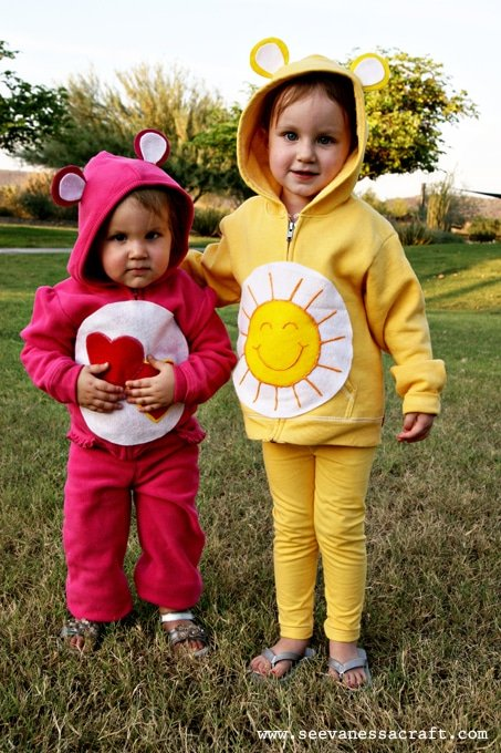 No Sew Care Bear Costumes from See Vanessa Craft - Quick and Easy DIY Halloween Costumes for Kids
