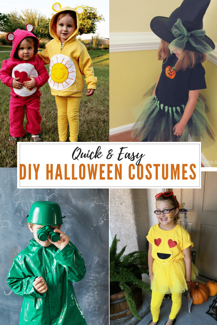30 Quick And Easy Diy Halloween Costumes For Kids Moneywise Moms