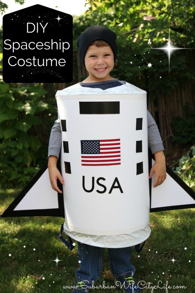 DIY Spaceship Costume from Suburban Wife City Life - Quick and Easy DIY Halloween Costumes for Kids