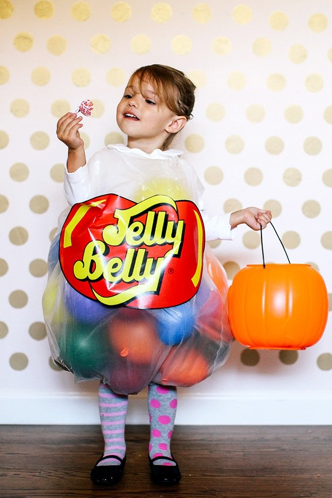 Jelly Belly Costume from The SITS Girls - Quick and Easy DIY Halloween Costumes for Kids