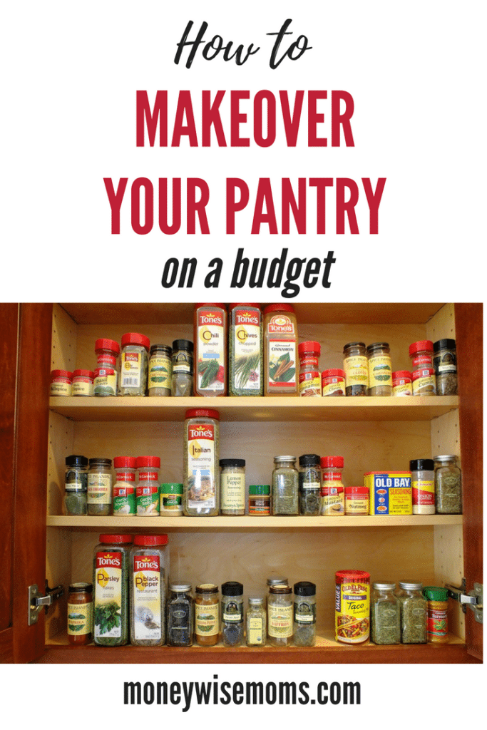 Use these tips to Makeover your Pantry on a Budget - frugal home improvement