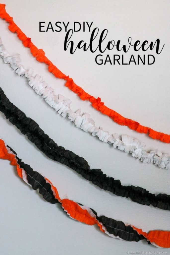 Easy DIY Halloween Garland from That's What Che Said - 50 Frugal Halloween Decorations You Can Make