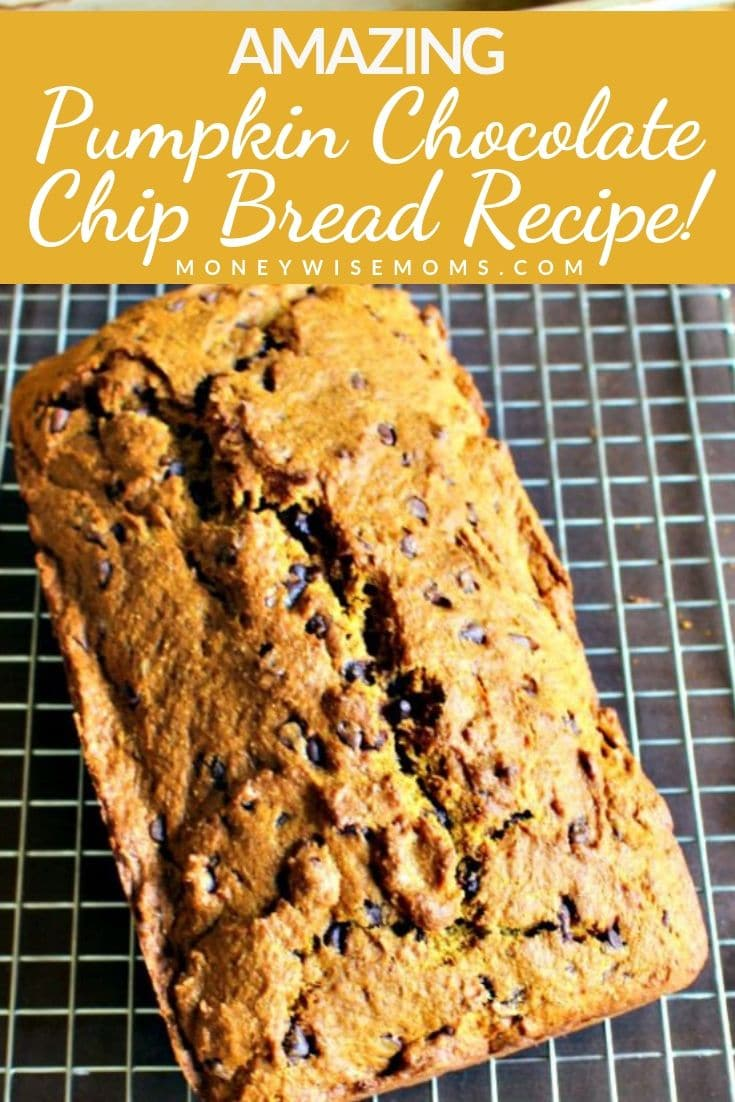 Add this easy Pumpkin Chocolate Chip Bread recipe to your plans for fall baking! It's one of those fall recipes that we come back to year after  year for a reason...it's incredible!