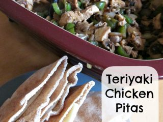 Teriyaki Chicken Pitas {Microwaved in the DCB}