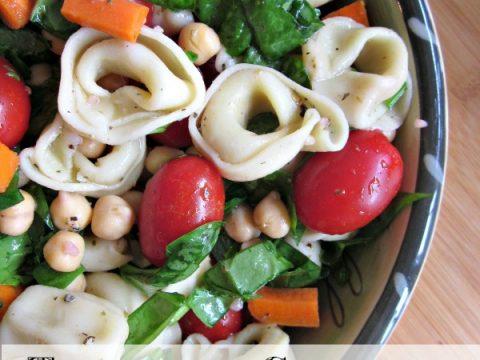 Tortellini-Chickpea Pasta Salad