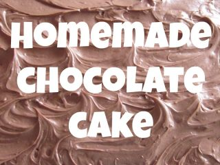 Homemade Chocolate Cake with Chocolate Cream Cheese Frosting