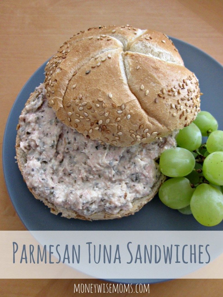 Lunch box packing - parmesan tuna sandwiches