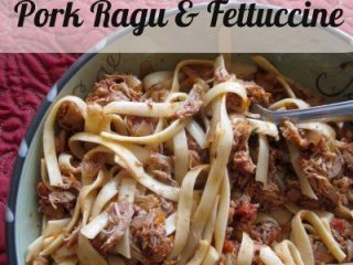 Slow Cooker Pork Ragu and Fettuccine