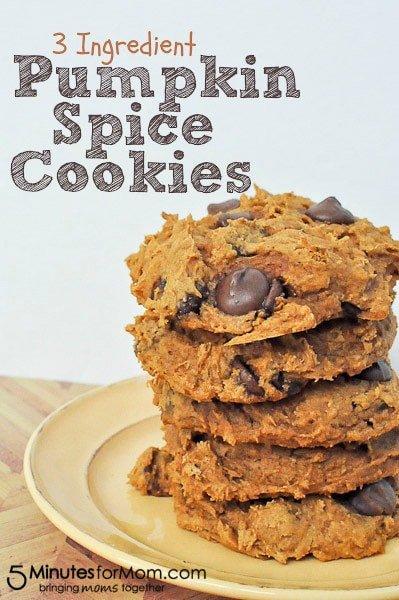 3 Ingredient Pumpkin Spice Cookies
