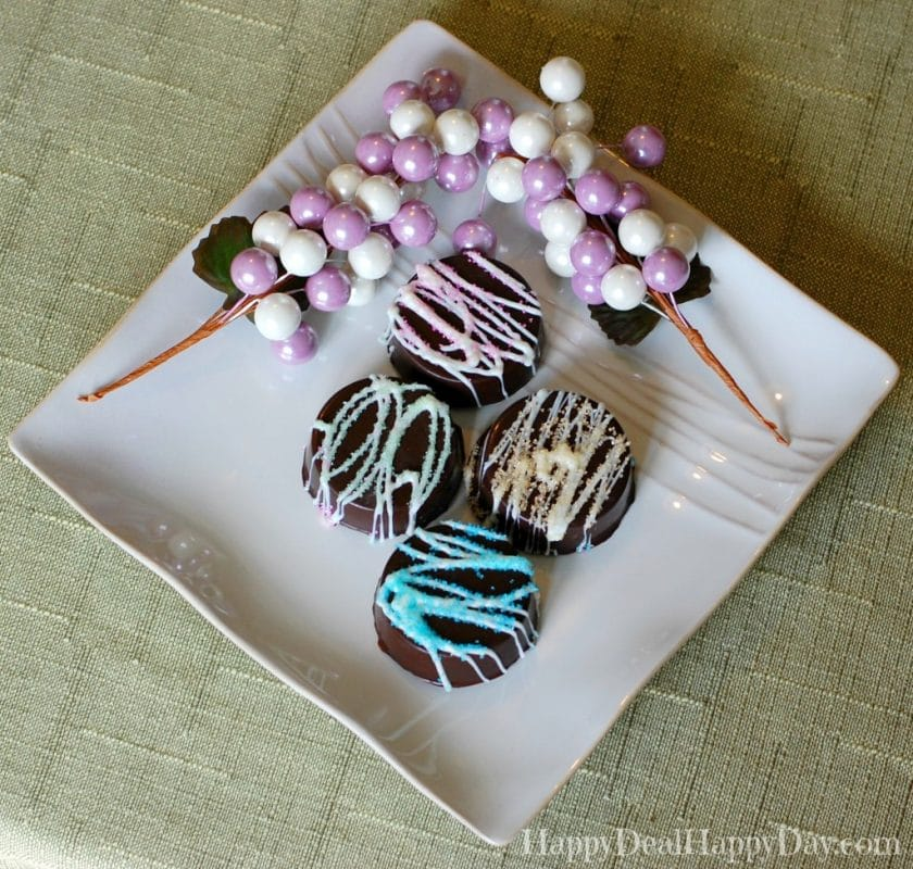 Chocolate Covered Oreos-Spring Style