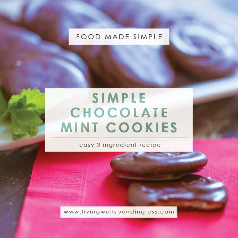 Simply Chocolate Mint Cookies