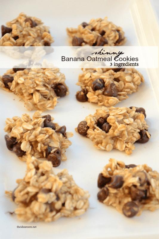 3 Ingredient Healthy Banana Cookies