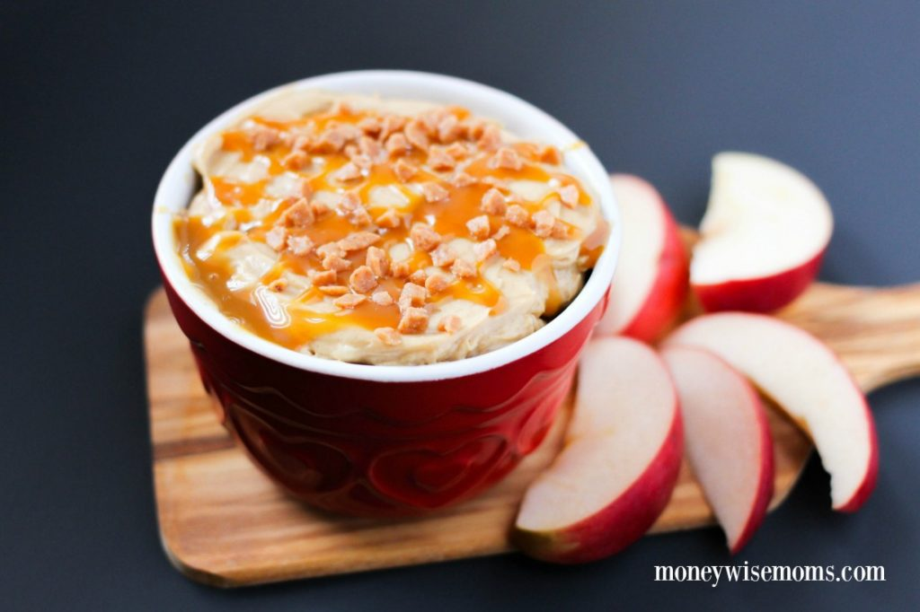 Super easy Caramel Apple Dip recipe with just 4 ingredients