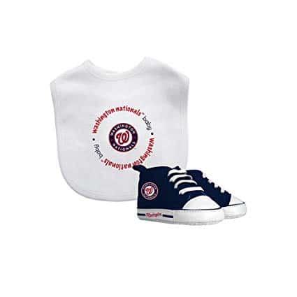 Baby Fanatic MLB Washington Nationals Unisex Bib & Prewalker Gift Set