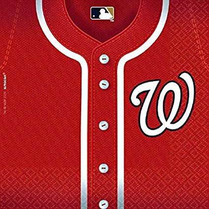 Washington Nationals Major League Baseball Collection Luncheon Napkins