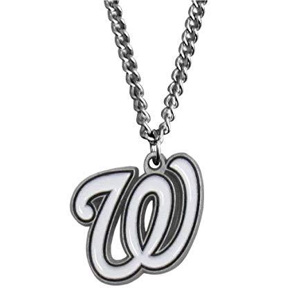 aminco MLB Womens MLB Logo Pendant Necklace