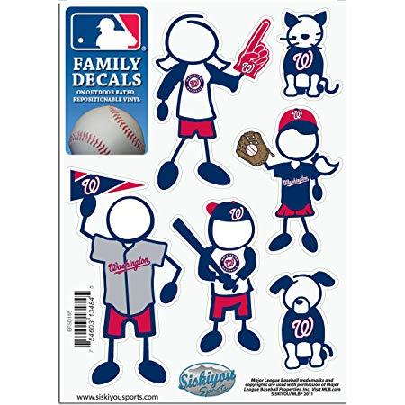 MLB Washington Nationals Small Family Decal Set