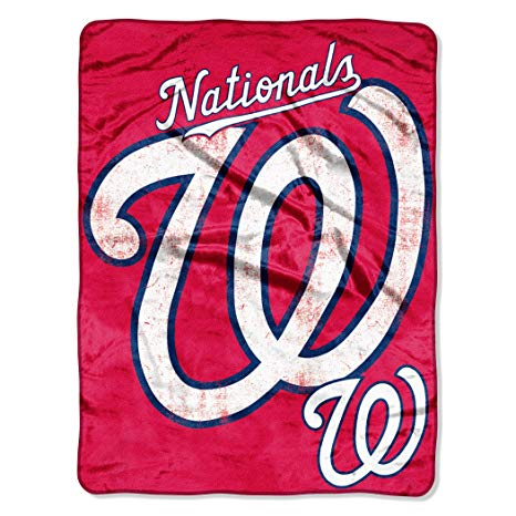 """Officially Licensed MLB Triple Play Mirco Raschel Throw Blanket, Soft & Cozy, Washable, Throws & Bedding, 46"""" x 60"""""""