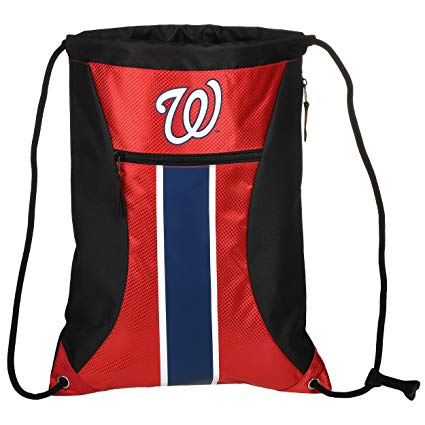 FOCO MLB Unisex Big Stripe Zipper Drawstring Backpack