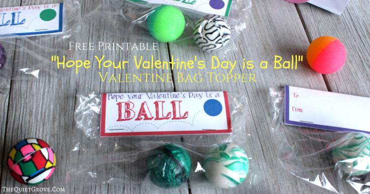 Free Printable Ball Valentines
