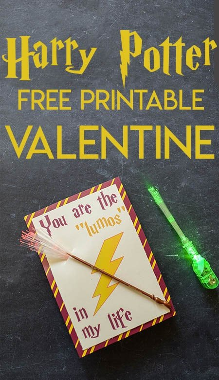 Free Printable Harry Potter Valentine's Day Card
