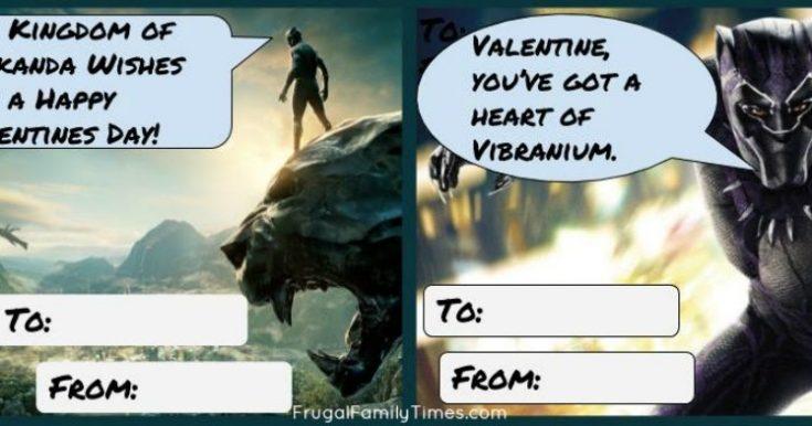 Free Printable Black Panther Valentines