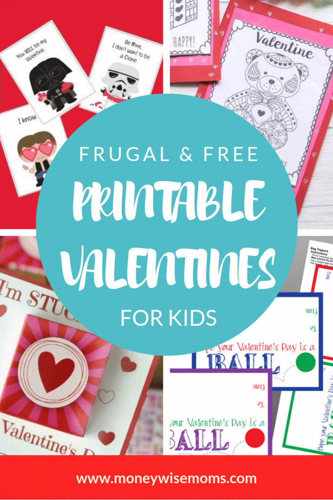 Frugal and Free Valentines for Kids - easy printable kid valentines