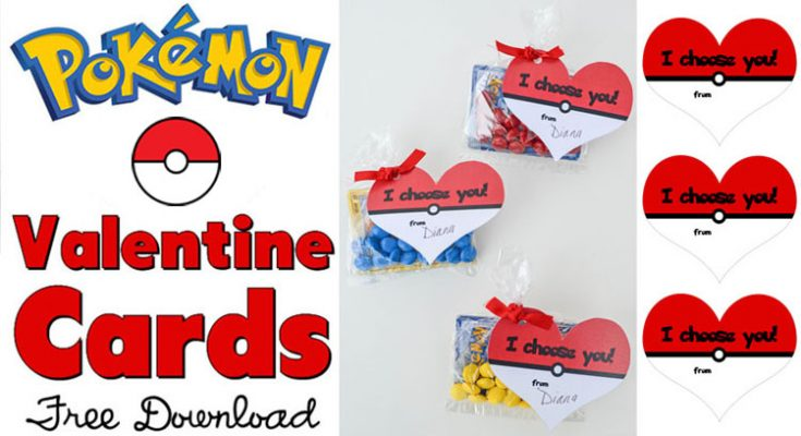photo relating to Pokemon Valentine Cards Printable called Frugal and Free of charge Valentines for Young children towards Deliver - Moneywise Mothers