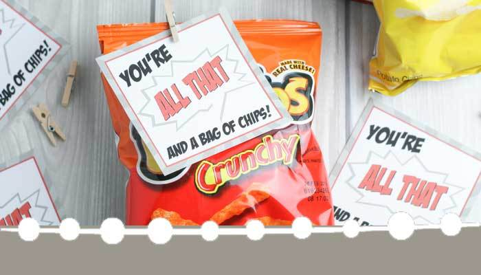 DIY Valentine Cards: You're All That and a Bag of Chips