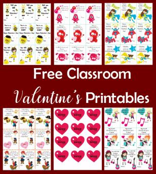 Free Classroom Valentine's Printables