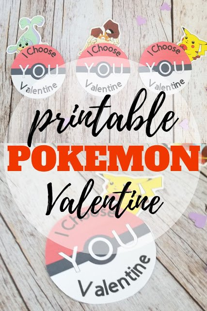 Pokemon Valentine Printable