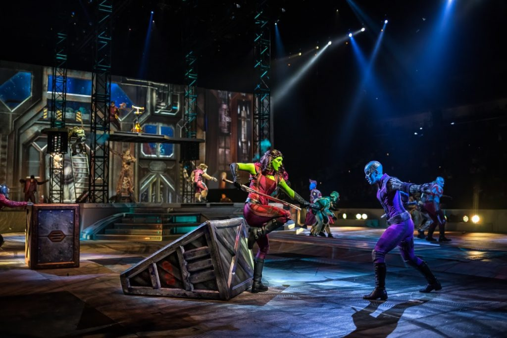 Gamora and Nebula at Marvel Universe Live Show