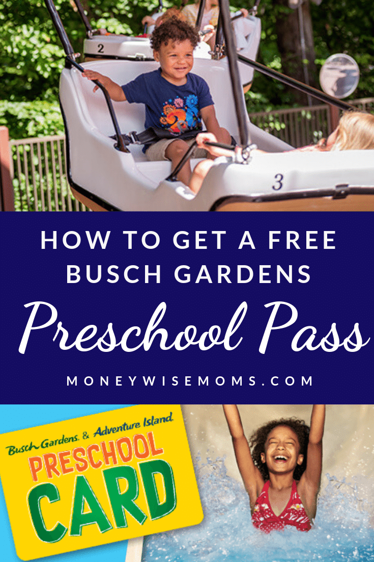 Get a free Preschool Pass to Busch Gardens Williamsburg