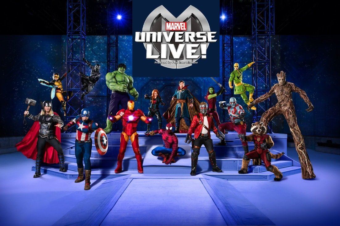 See Marvel Universe Live on tour
