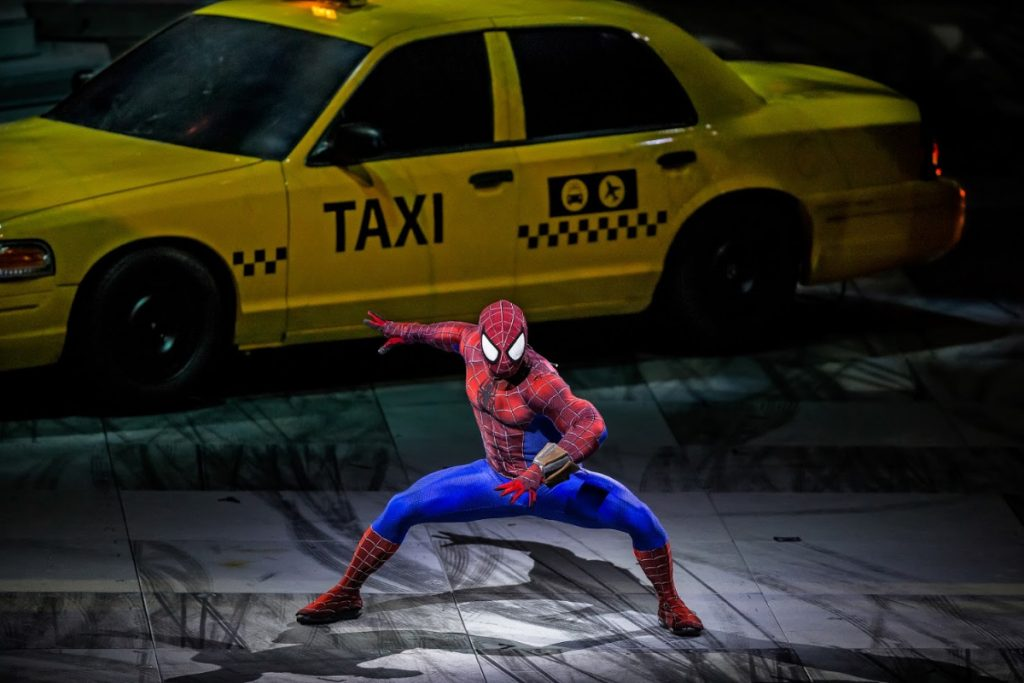 Spiderman at Marvel Universe Live Show