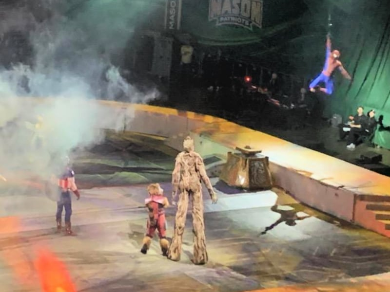 Groot at Marvel Universe Live show