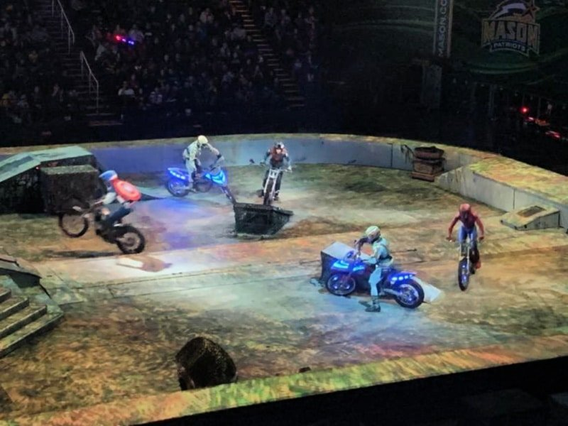 Motorcycle action at Marvel Unlimited Live show