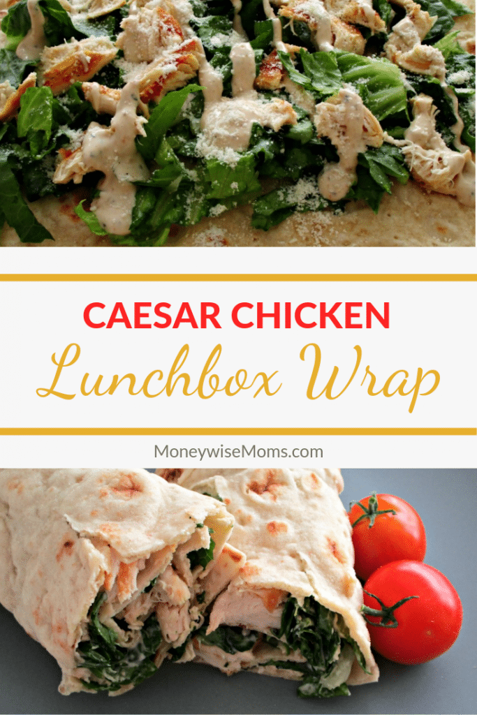 Chicken Caesar Salad in a wrap