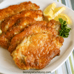 These delicious breaded pork chops are easy to make and great for weeknight dinners! A simple breaded pork chop recipe that has breading which doesn't crumble! My tasty pork chops make an excellent gluten free option for dinner as well.
