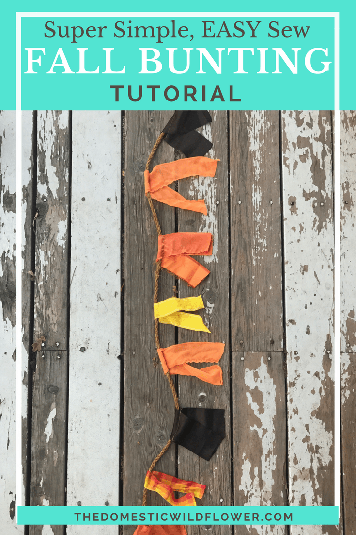 Super Simple Easy Sew Fall Decor Bunting Tutorial