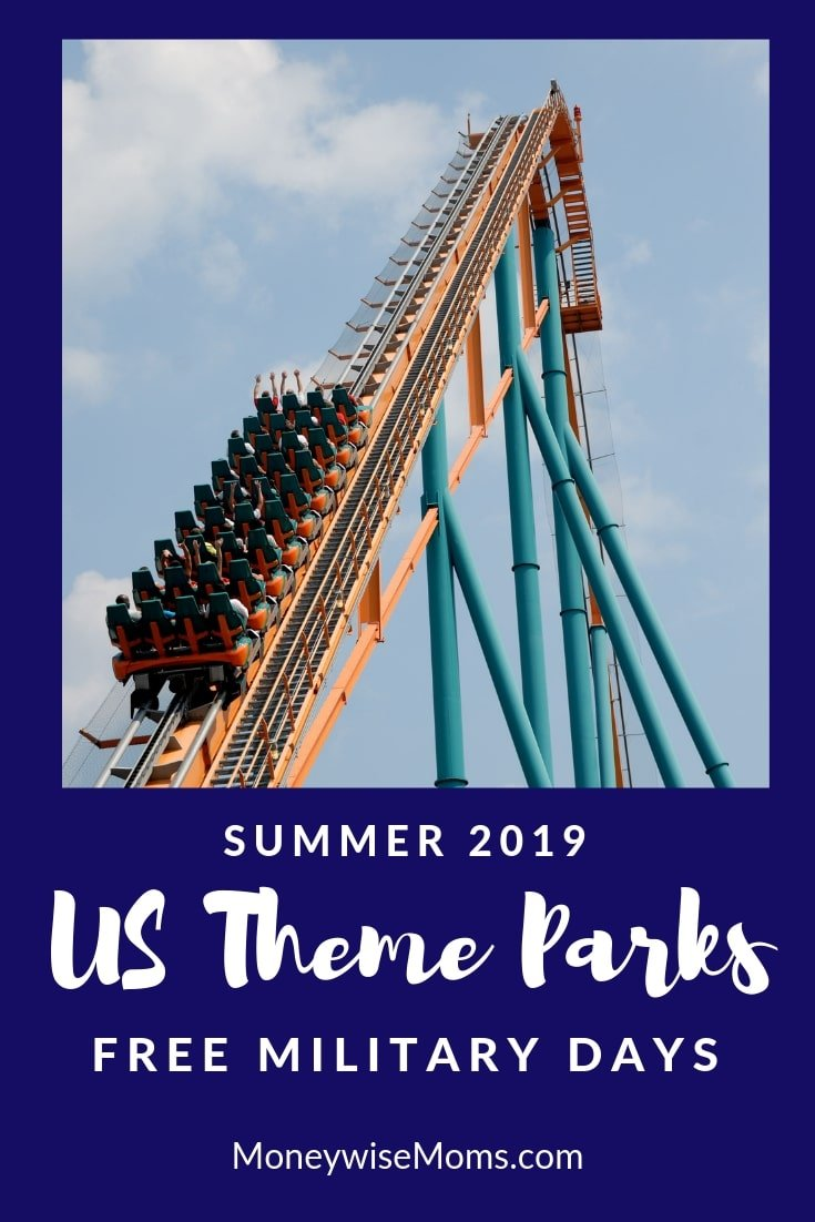 US theme parks with free military days in summer 2019