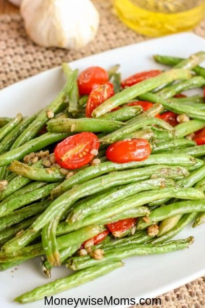Easy Garlic Green Bean Recipe With Tomatoes