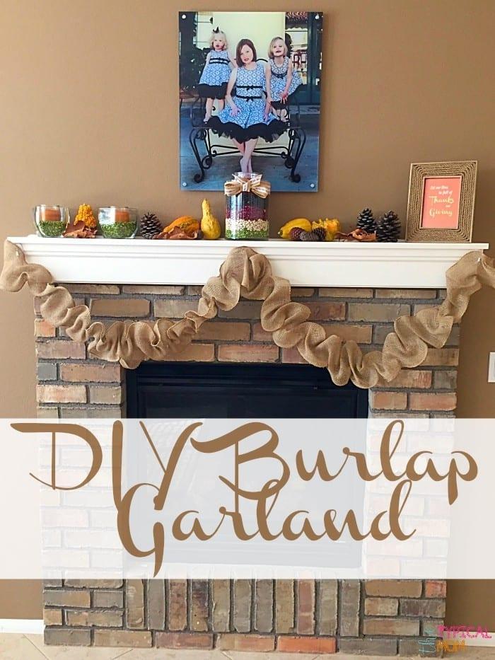 How to Make Burlap Garland