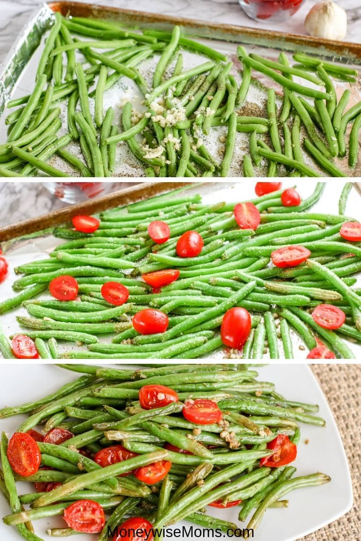 Easy vegetable side dishes that are packed with flavor are my favorite. This garlic green bean recipe with tomatoes is so simple and flavorful. The whole family will love it!