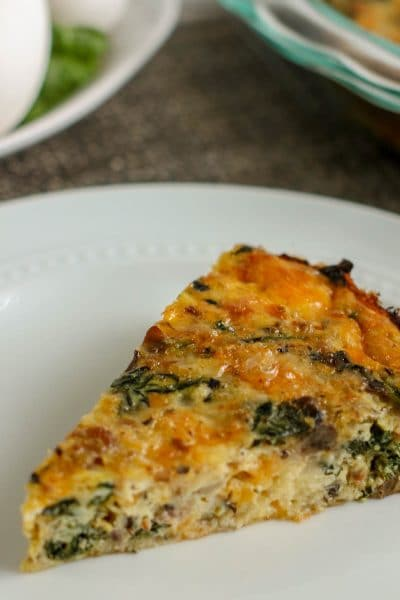 Delicious Spinach And Ham Crustless Quiche