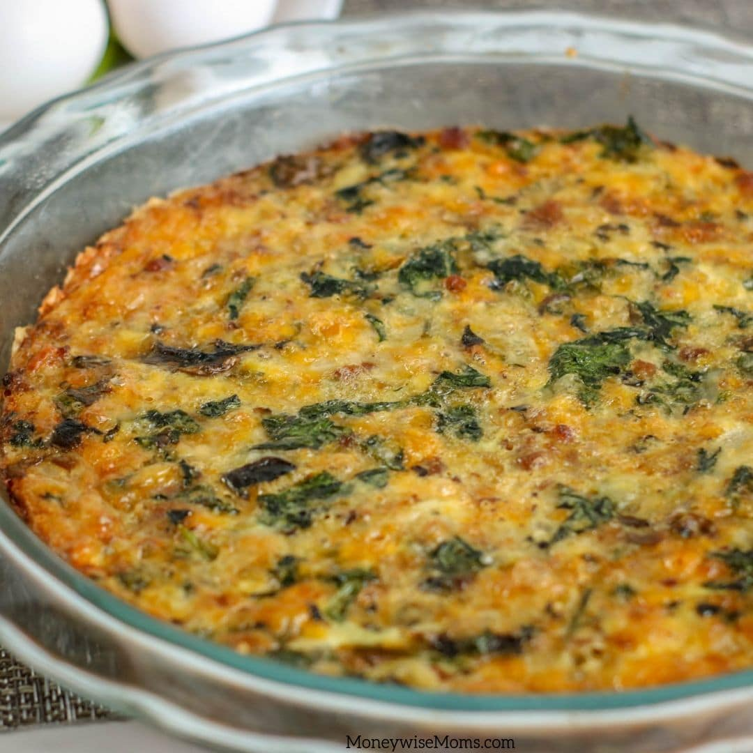Making a crustless quiche is quick and easy. This spinach and ham quiche can be made without without the mushrooms. Try the spinach mushroom quiche for breakfast, brunch, or even breakfast for dinner.